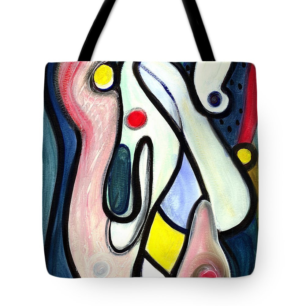 Abstract Art Tote Bag featuring the painting Abstract Mystery by Stephen Lucas