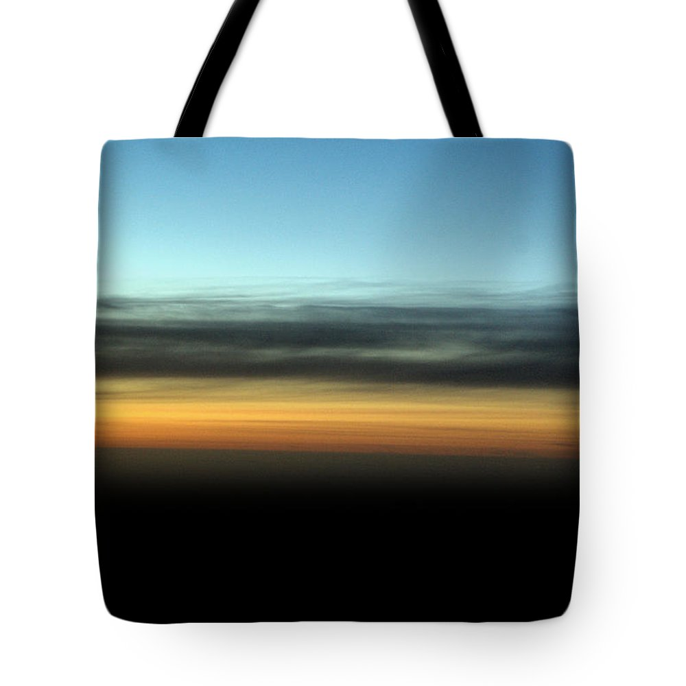 Landscape Tote Bag featuring the photograph Abstract Night Sky by Brian Raggatt