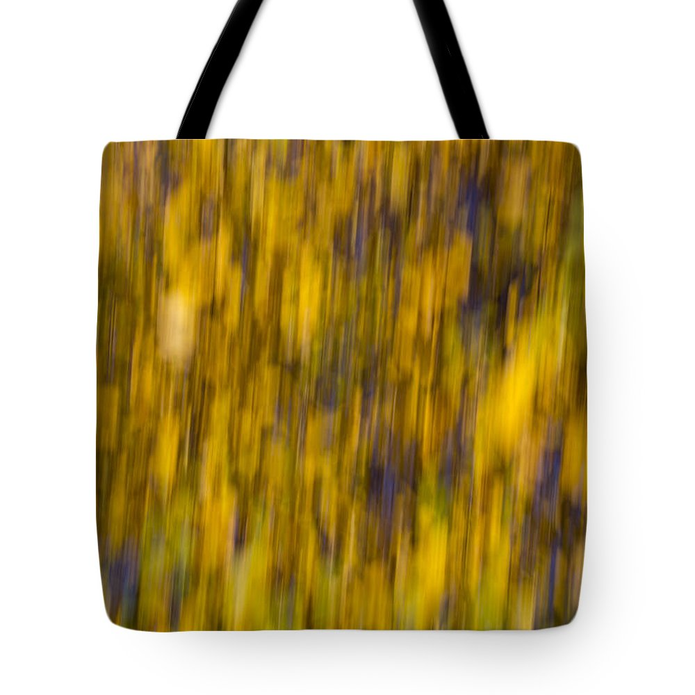 Autumn Tote Bag featuring the photograph Abstract Of Autumn Gold by David Pyatt