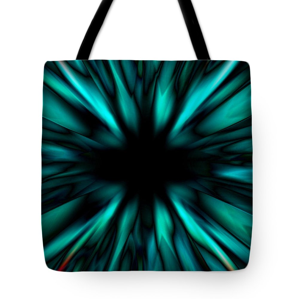Background Tote Bag featuring the digital art Abstract Oganic by Steve Ball