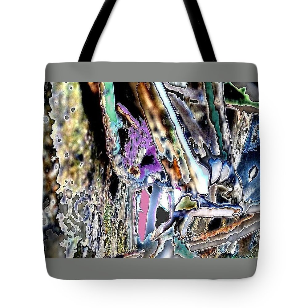 Colorful Dream Tote Bag featuring the photograph Abstract On Dream by Basant Soni