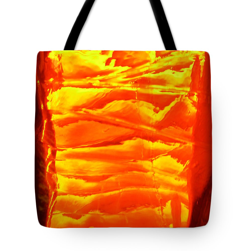 Orange Tote Bag featuring the photograph Abstract Orange by Amanda Barcon