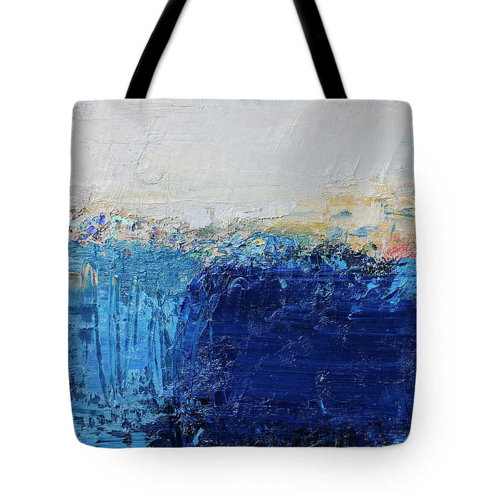 Oil Painting Tote Bag featuring the photograph Abstract Painted Blue Art Backgrounds by Ekely