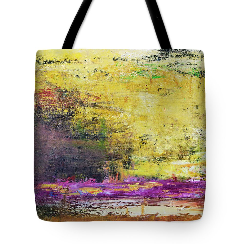 Oil Painting Tote Bag featuring the photograph Abstract Painted Yellow Art Backgrounds by Ekely
