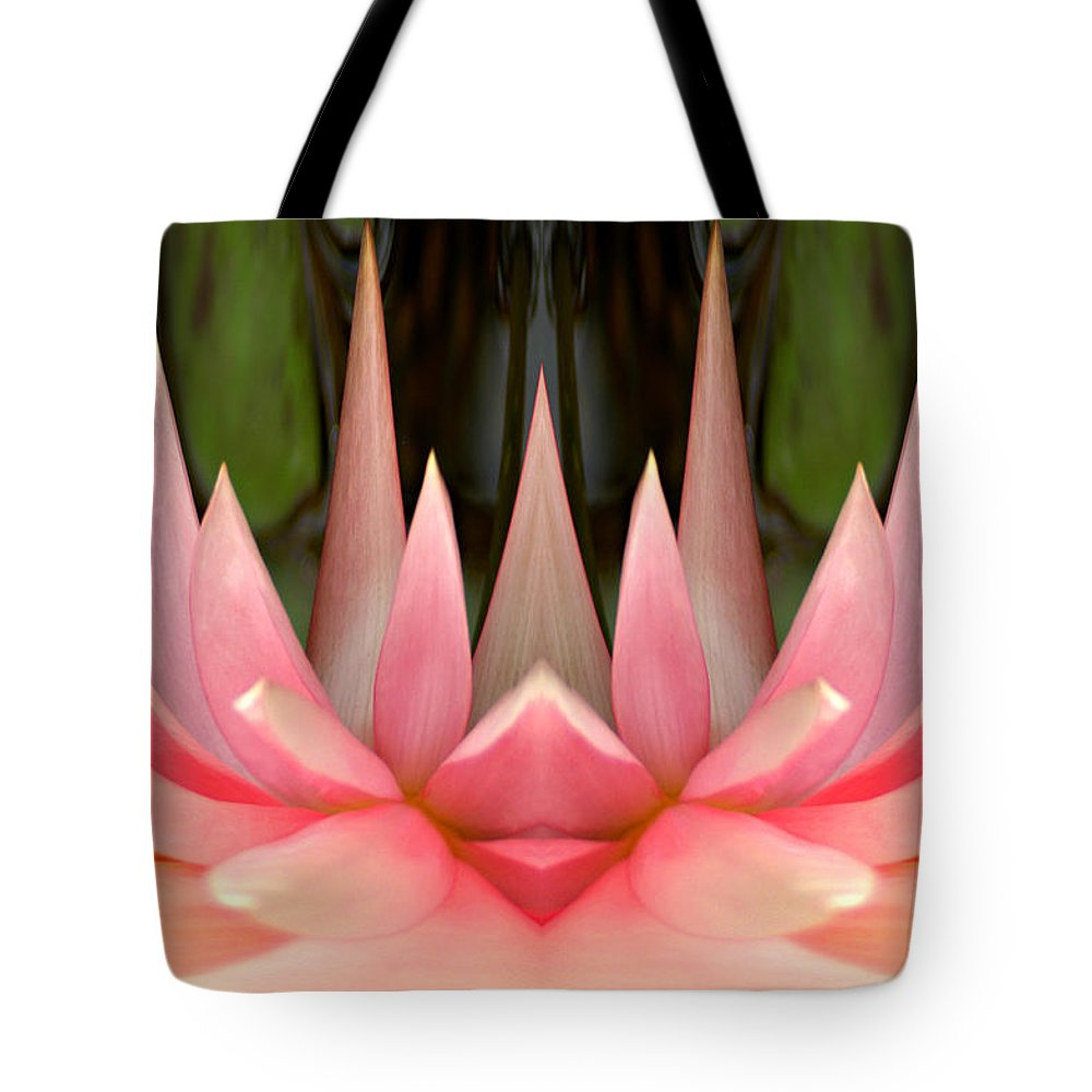 Abstract Tote Bag featuring the photograph Abstract Pink Water Lily by Don Johnson