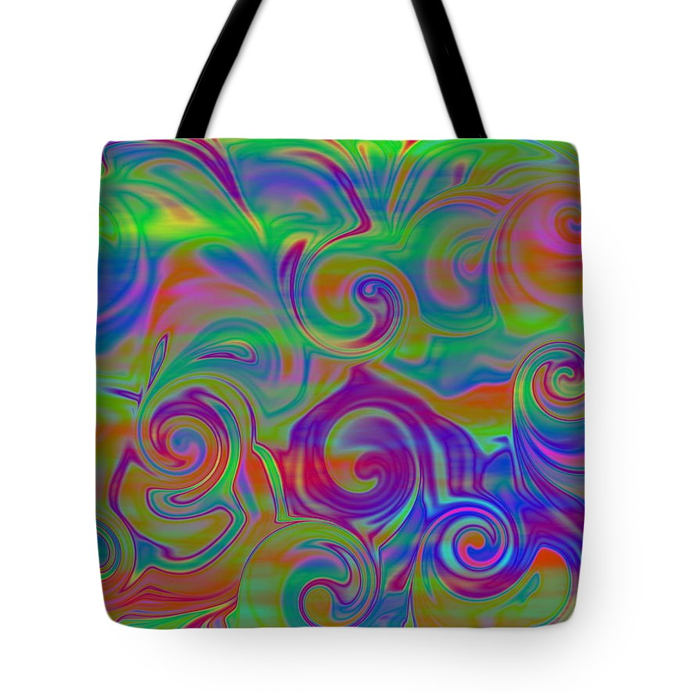 Abstract Tote Bag featuring the digital art Abstract Series 5 Number 3 by Ron Hedges