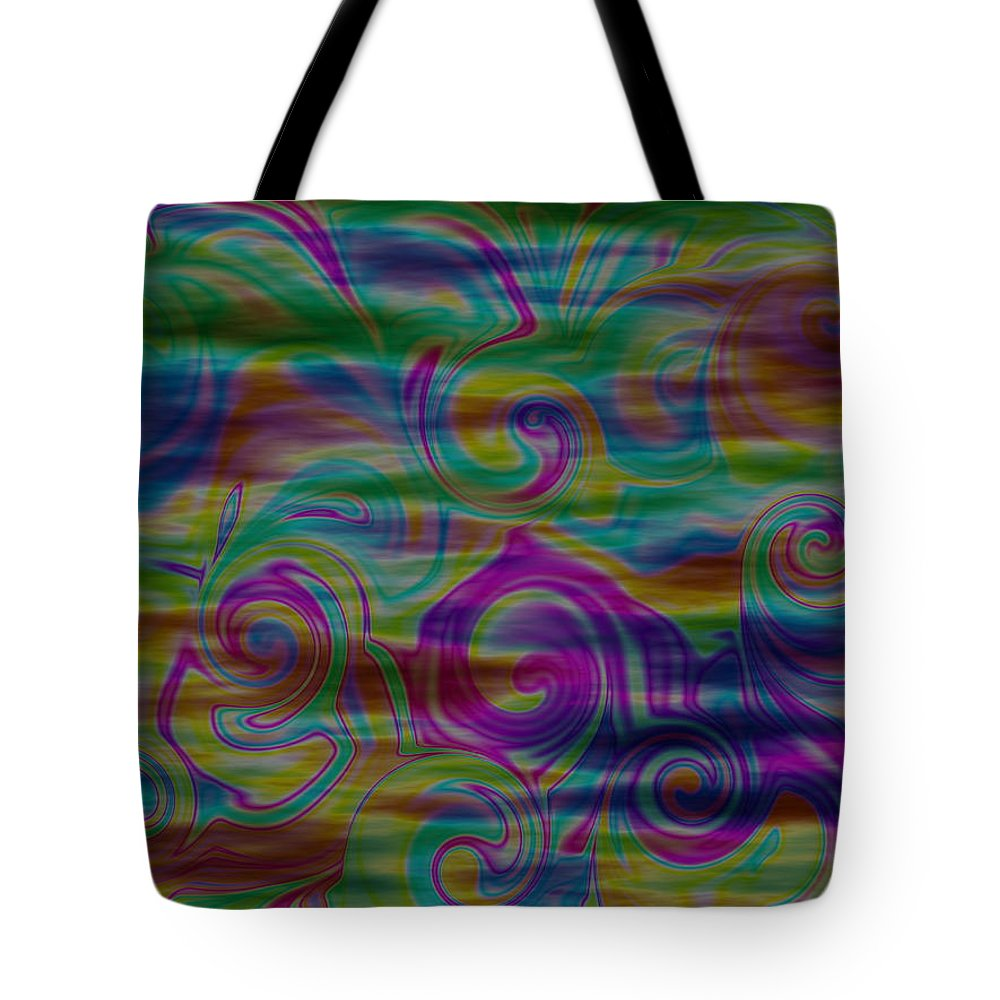 Abstract Tote Bag featuring the digital art Abstract Series 5 Number 4 by Ron Hedges