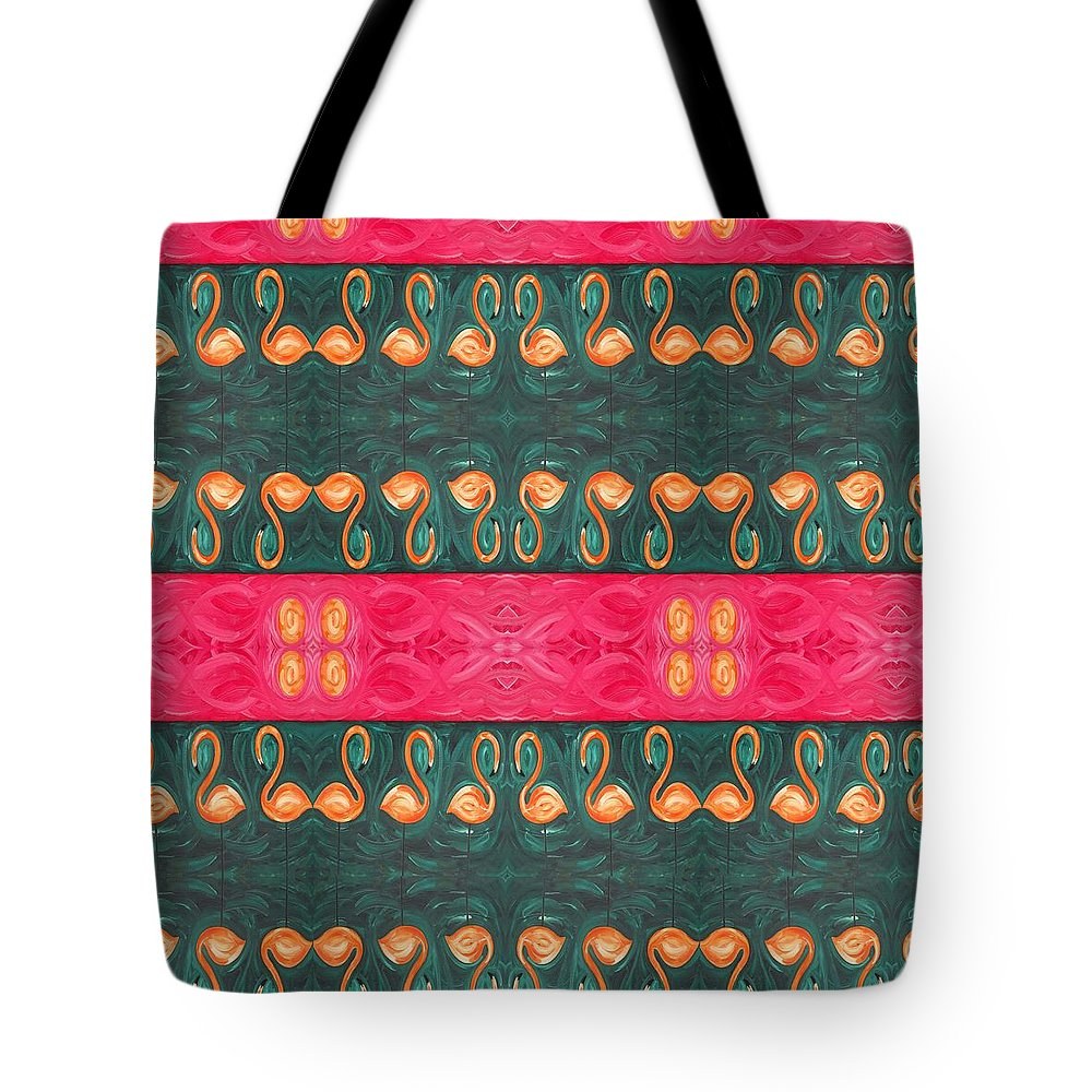 Flamingo Tote Bag featuring the painting Abstract 814 by Patrick J Murphy