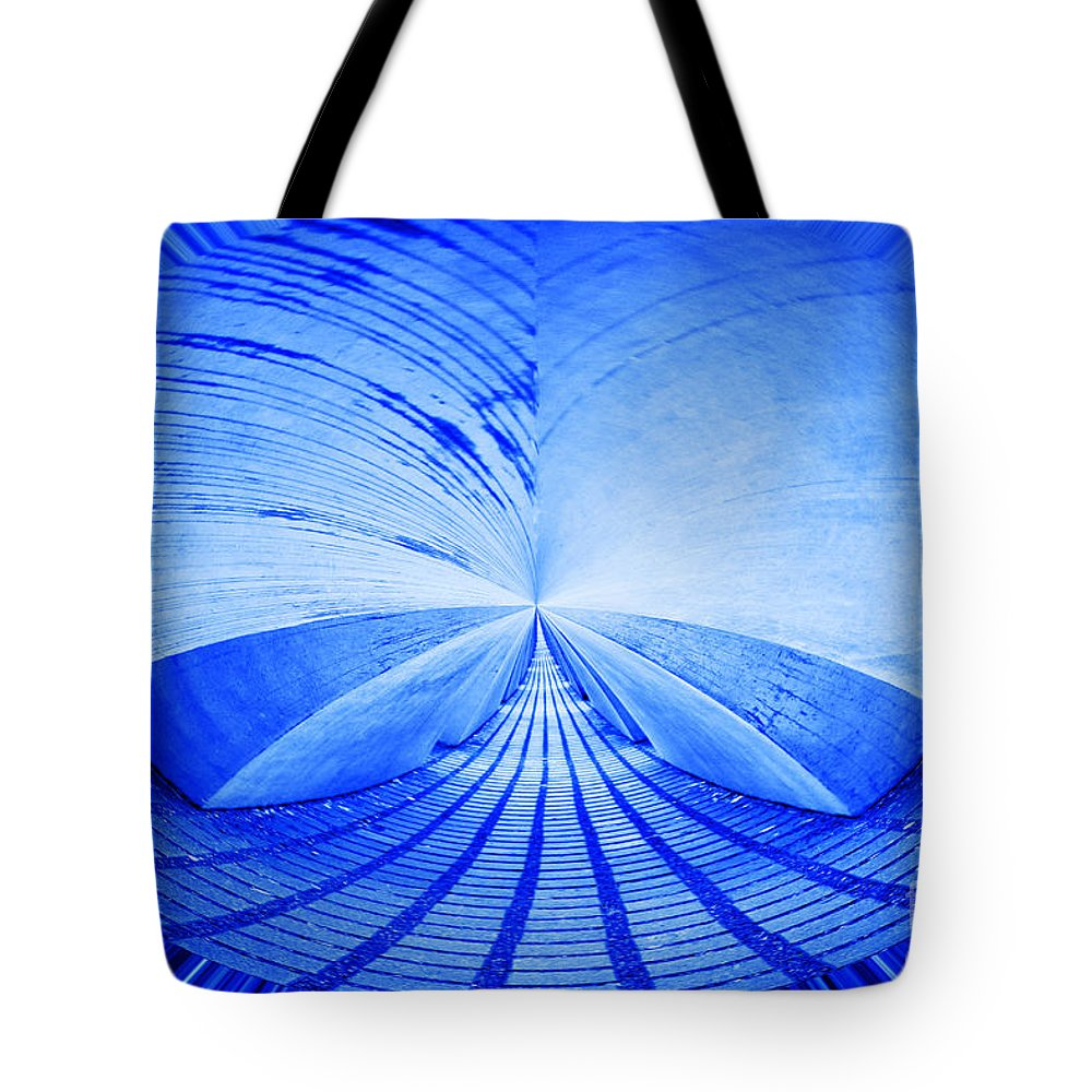 Blue Tote Bag featuring the photograph Abstract Structure by Alain Michiels