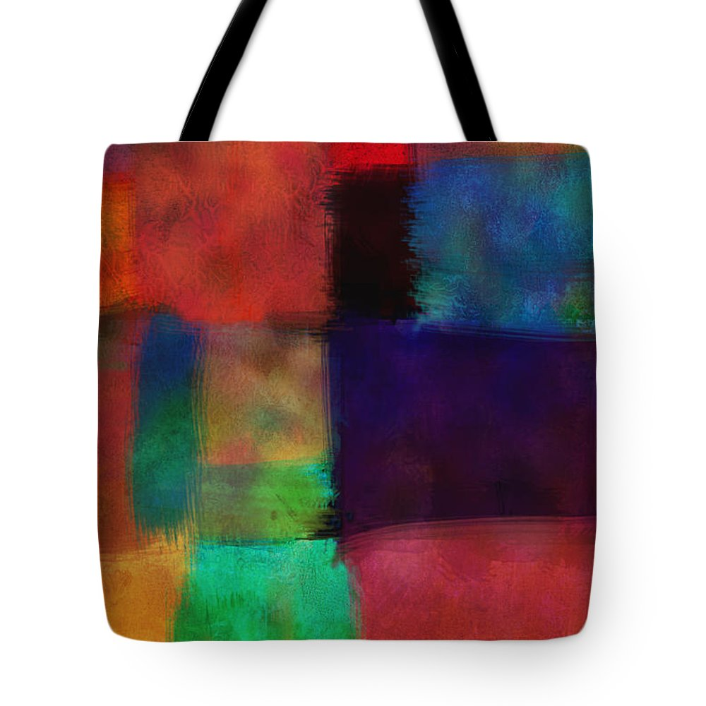 Abstract Tote Bag featuring the digital art Abstract Study Five - Abstract - Art by Ann Powell