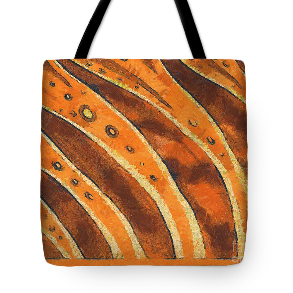 Van Gogh Tote Bag featuring the painting Abstract Tiger Stripes by Pixel Chimp