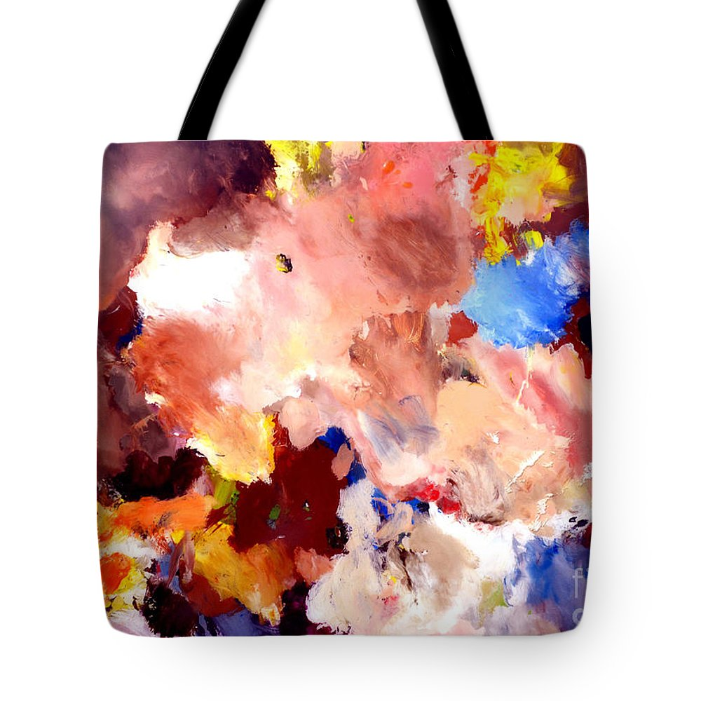 Abstract Tote Bag featuring the painting Abstract Two by Christopher Shellhammer