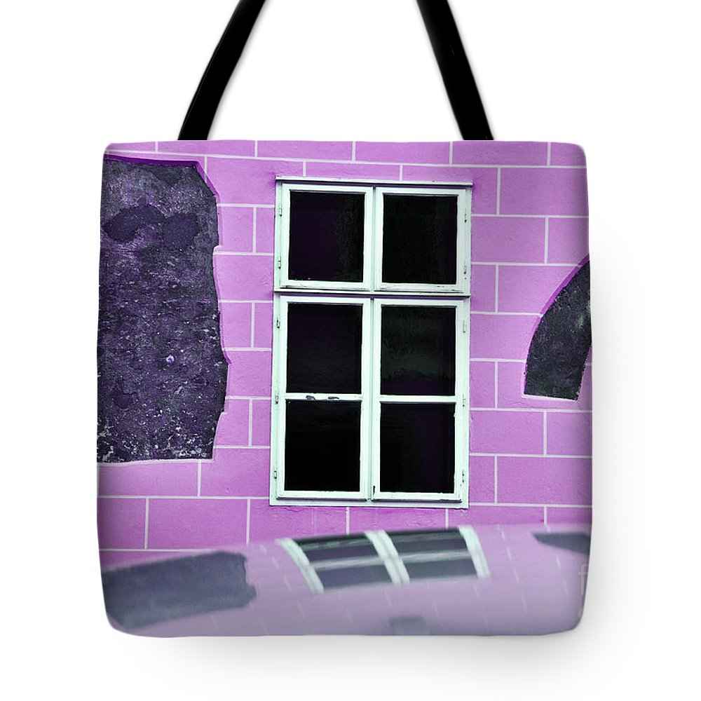 Abstract Tote Bag featuring the photograph Abstract Wall by Simona Ghidini