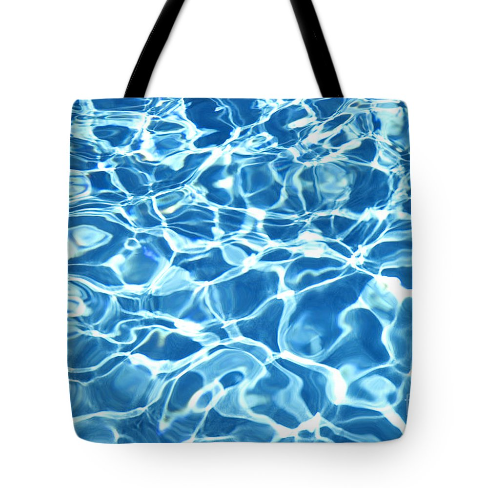 Abstract Tote Bag featuring the photograph Abstract Water by Tony Cordoza