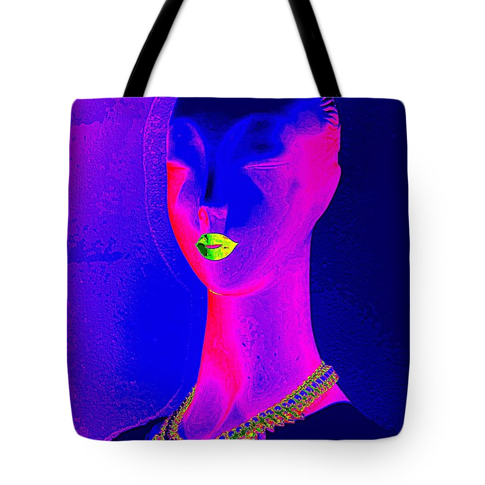 Pop Art Tote Bag featuring the digital art Abstract Woman by Ed Weidman
