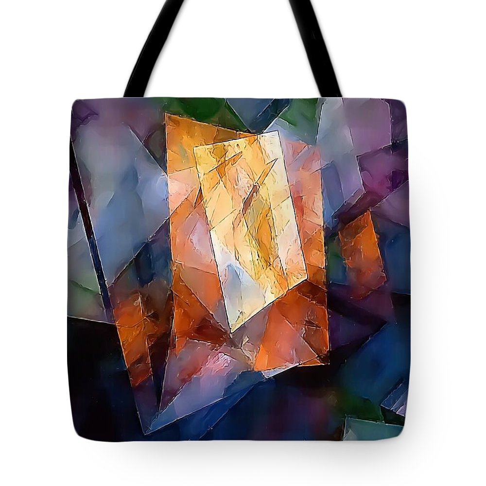 Graphics Tote Bag featuring the digital art Abstraction 0257 Marucii by Marek Lutek