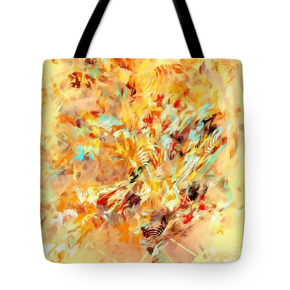 Graphics Tote Bag featuring the digital art Abstraction 0263 Marucii by Marek Lutek