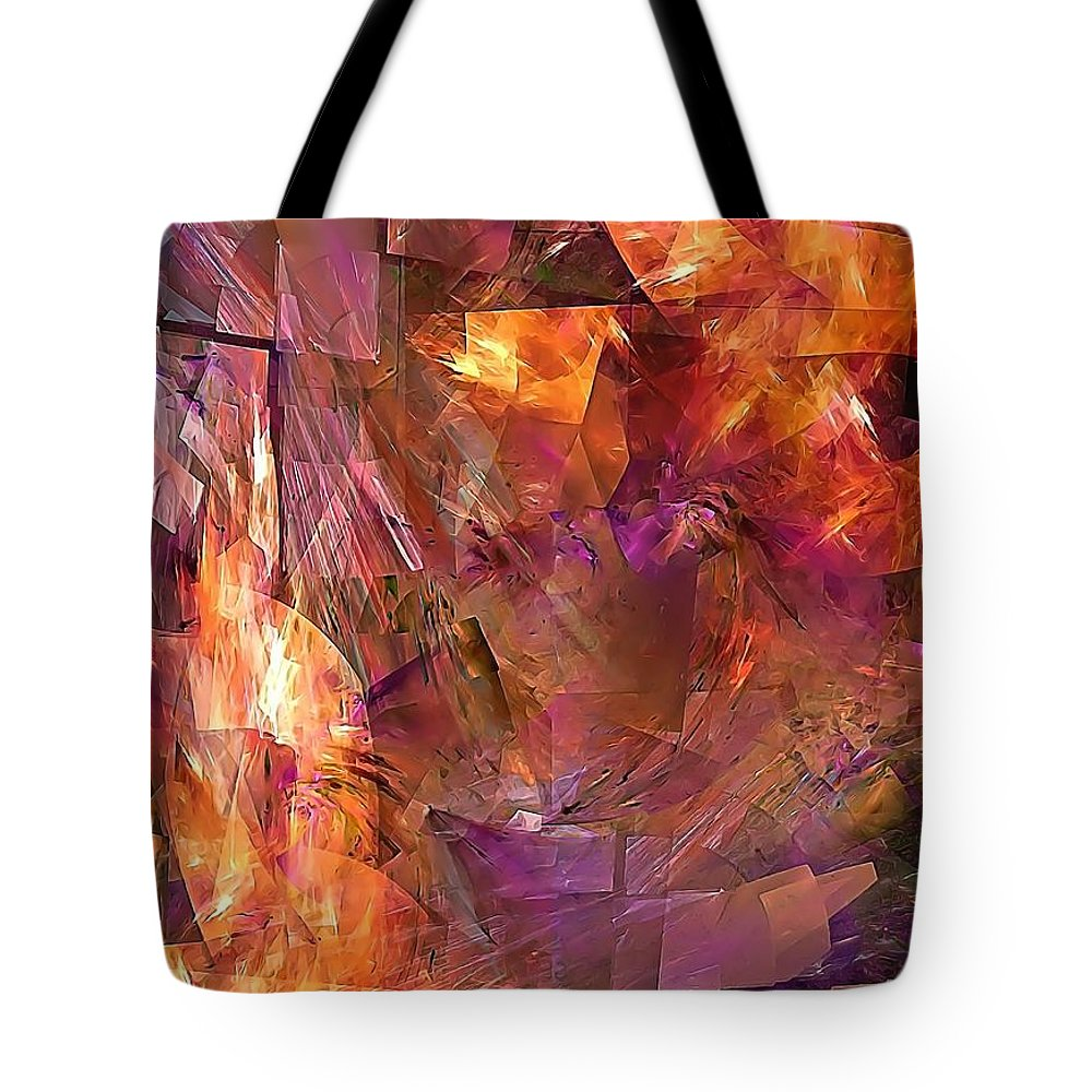 Graphics Tote Bag featuring the photograph Abstraction 0273 Marucii by Marek Lutek