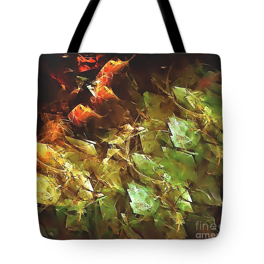 Graphics Tote Bag featuring the digital art Abstraction 0277 Marucii by Marek Lutek