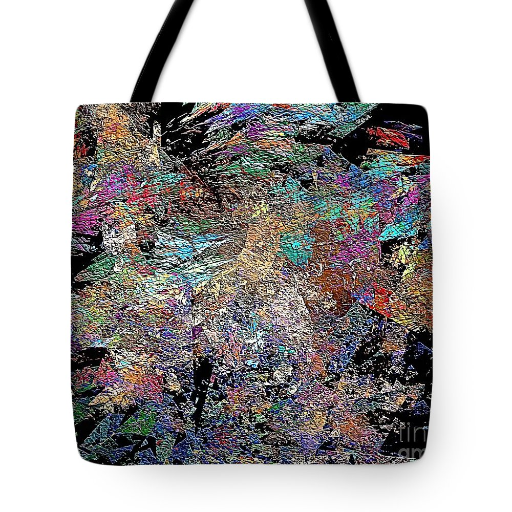 Graphics Tote Bag featuring the digital art Abstraction 0581 Marucii by Marek Lutek