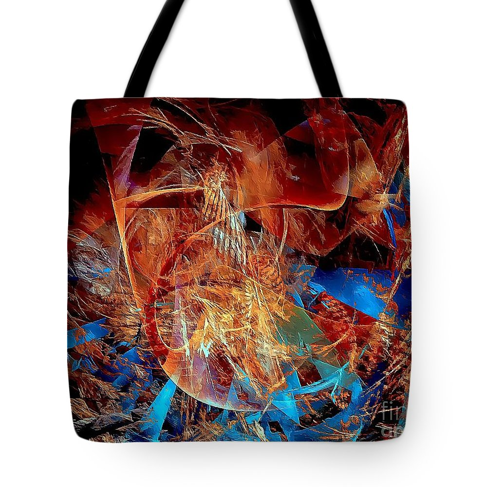 Graphics Tote Bag featuring the digital art Abstraction 0600 - Marucii by Marek Lutek