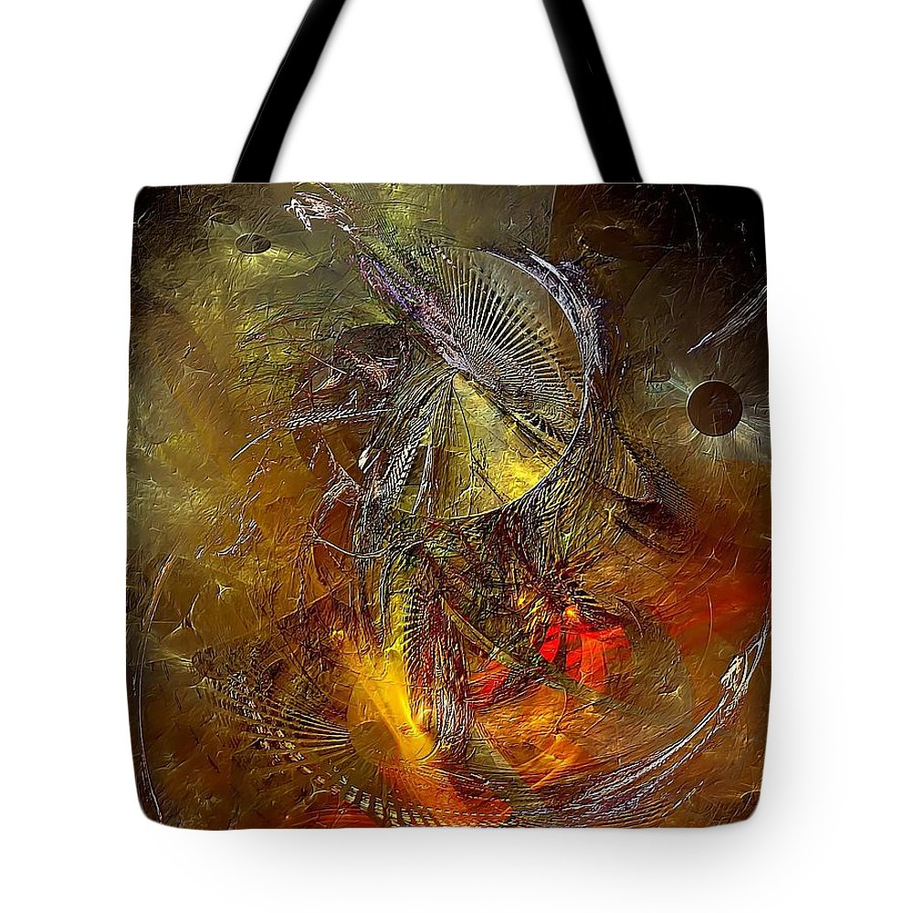 Graphics Tote Bag featuring the digital art Abstraction 0601 - Marucii by Marek Lutek