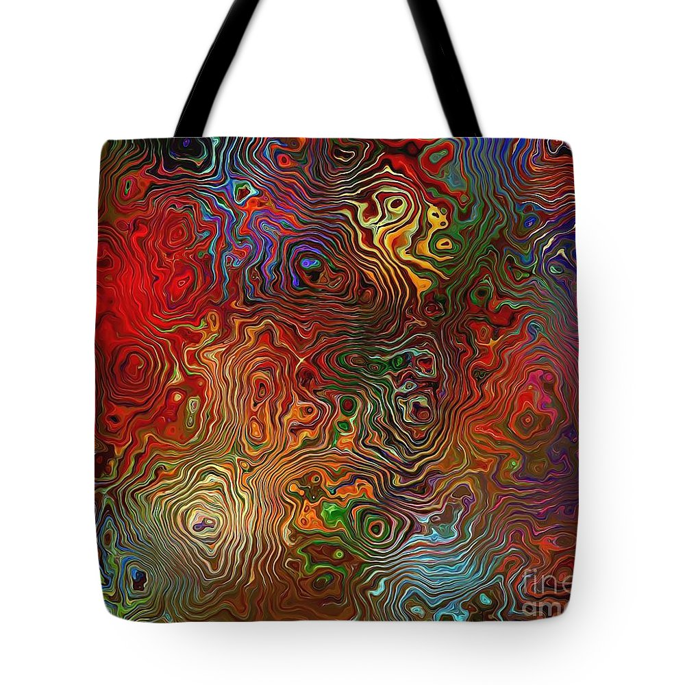Graphics Tote Bag featuring the digital art Abstraction 0612 Marucii by Marek Lutek