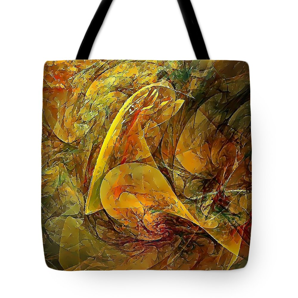 Graphics Tote Bag featuring the digital art Abstraction 0627 - Marucii by Marek Lutek
