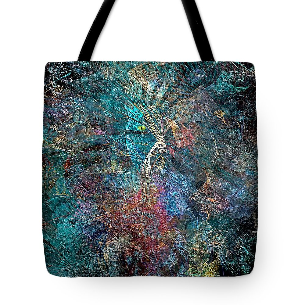 Graphics Tote Bag featuring the digital art Abstraction 0638 Marucii by Marek Lutek