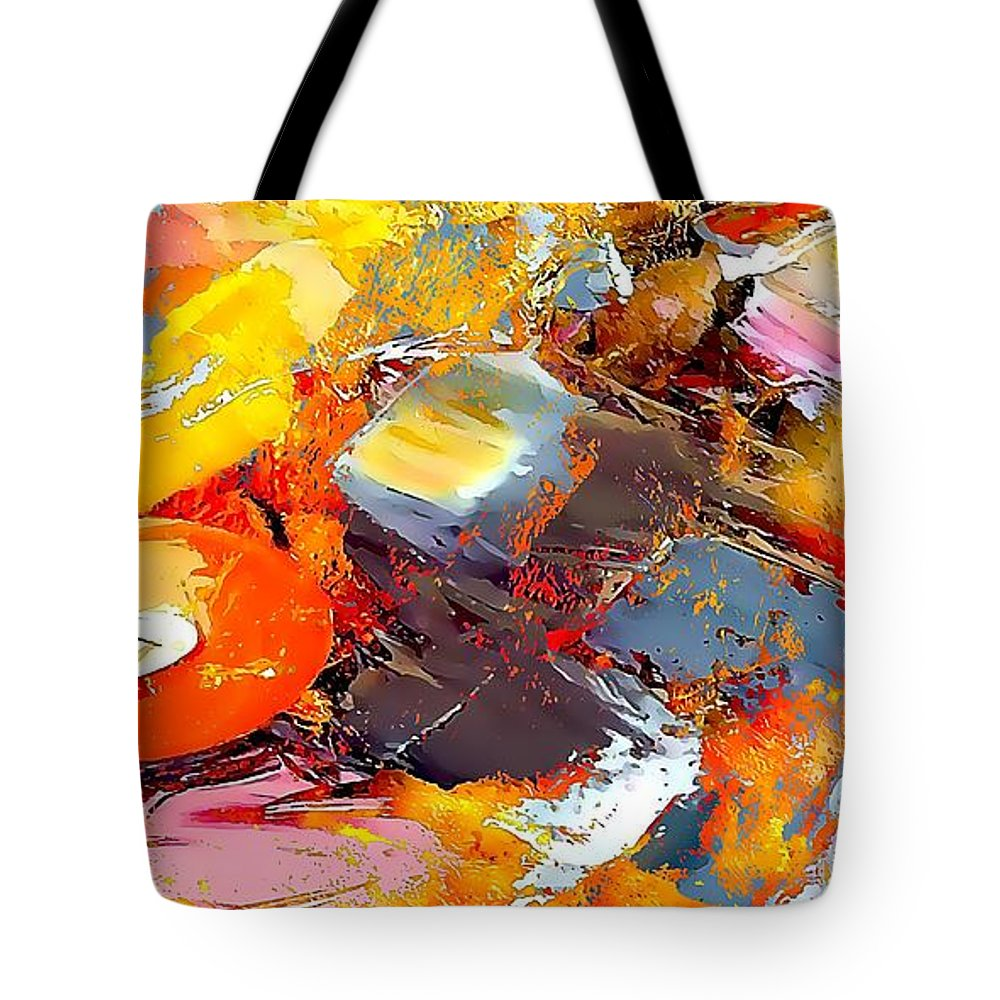 Abstract Tote Bag featuring the painting Abstraction 586-11-13 Marucii by Marek Lutek