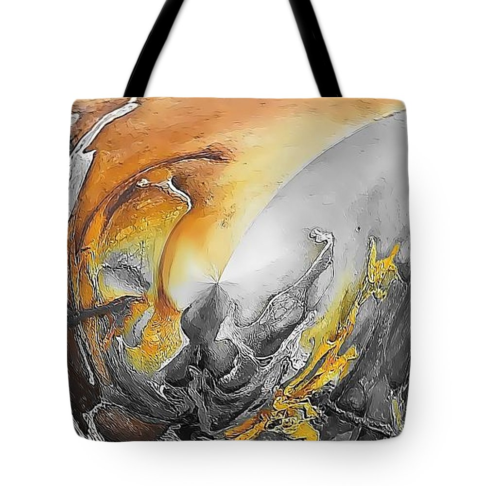 Abstract Tote Bag featuring the painting Abstraction 587-11-13 Marucii by Marek Lutek