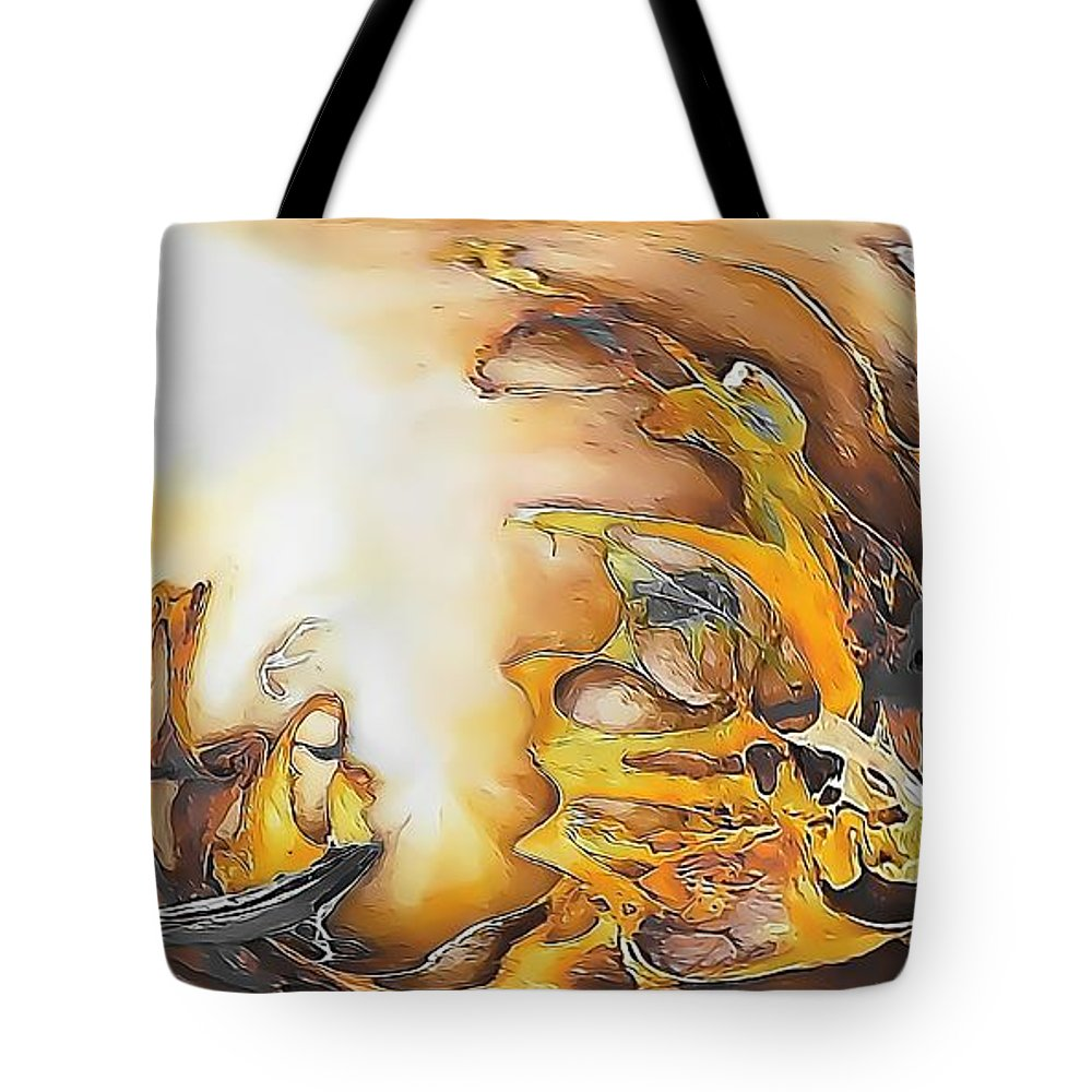 Abstract Tote Bag featuring the painting Abstraction 589-11-13 Marucii by Marek Lutek