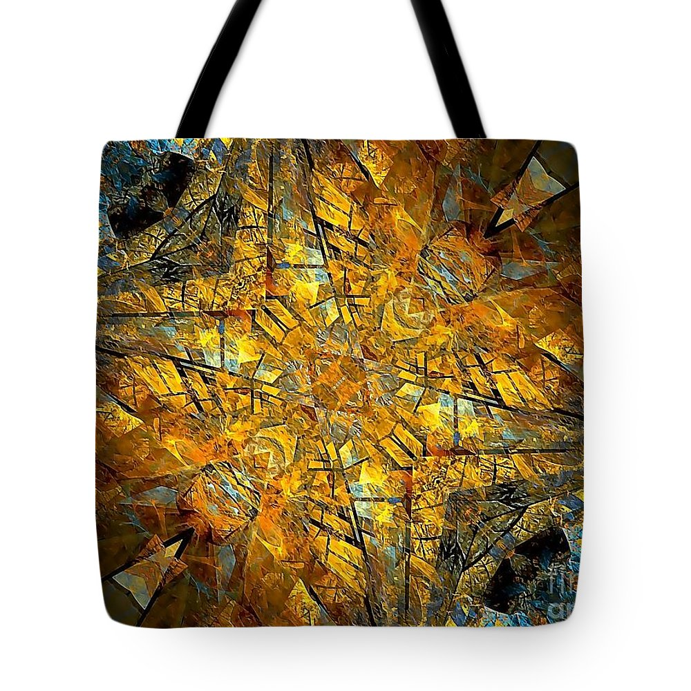 Abstract Tote Bag featuring the painting Abstraction 634-12-13 Marucii by Marek Lutek