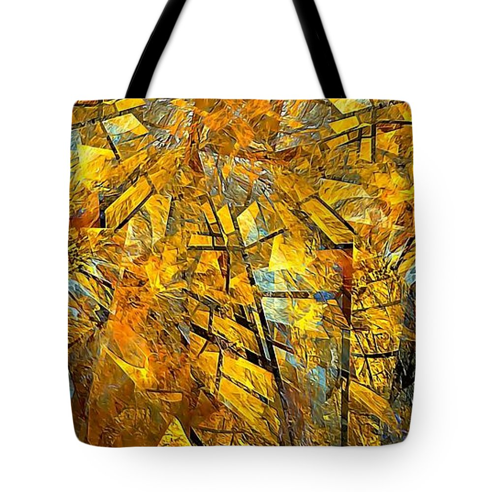 Abstract Tote Bag featuring the painting Abstraction 635-12-13 Marucii by Marek Lutek