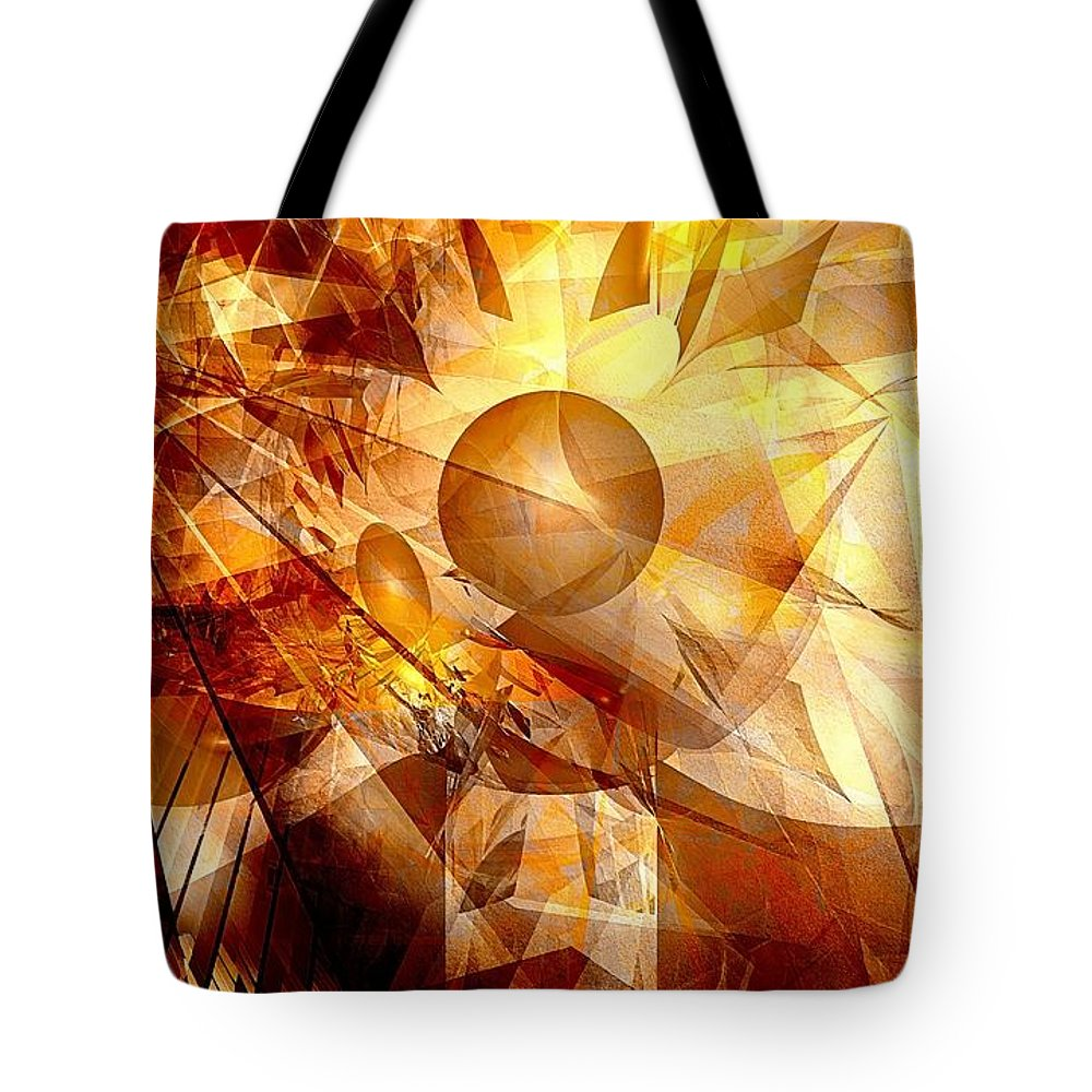 Graphics Tote Bag featuring the digital art Abstraction072-13 Marucii by Marek Lutek