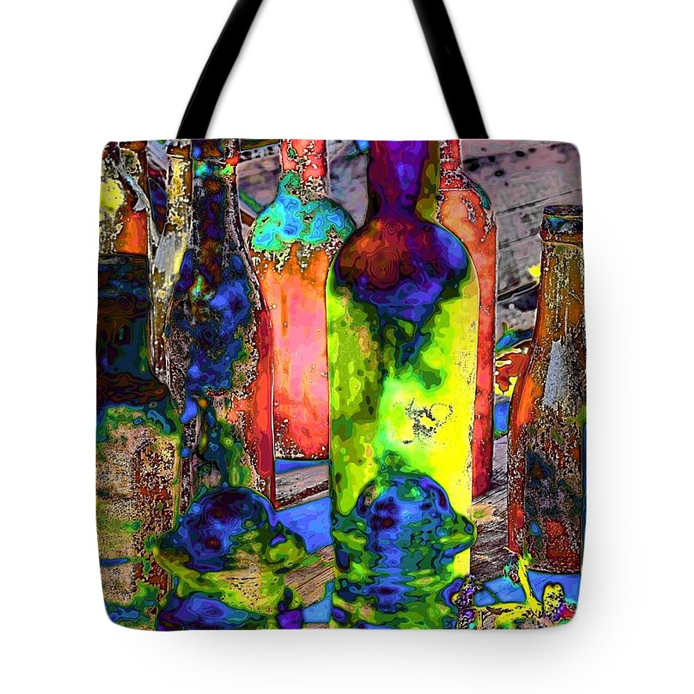 Abstract Tote Bag featuring the photograph Absynthe Minded by Lauren Leigh Hunter Fine Art Photography