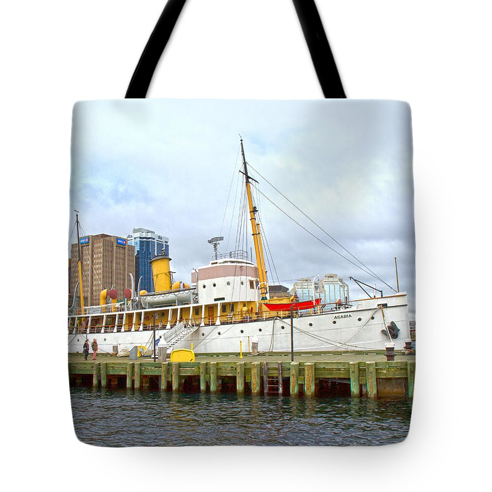 Boat Tote Bag featuring the photograph Acadia by Betsy Knapp