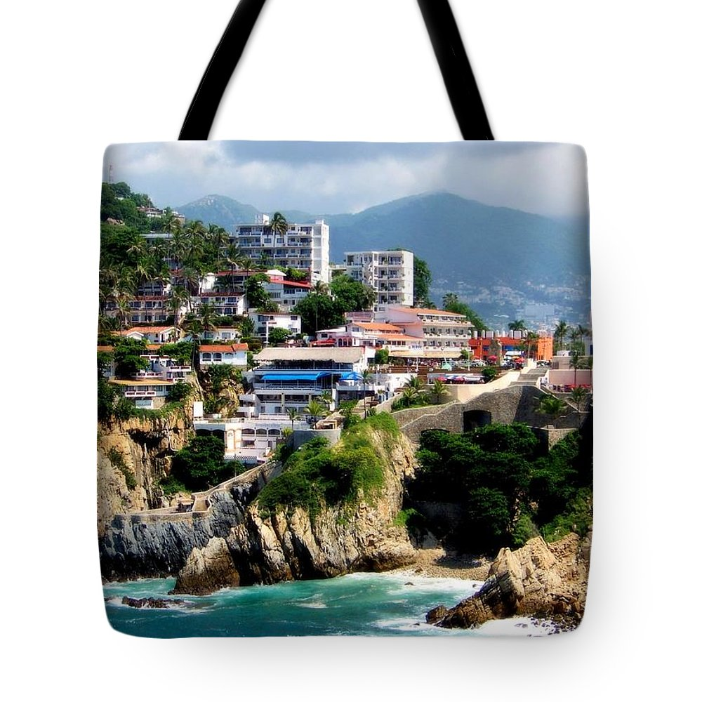 Acapulco Tote Bag featuring the photograph Acapulco by Karen Wiles