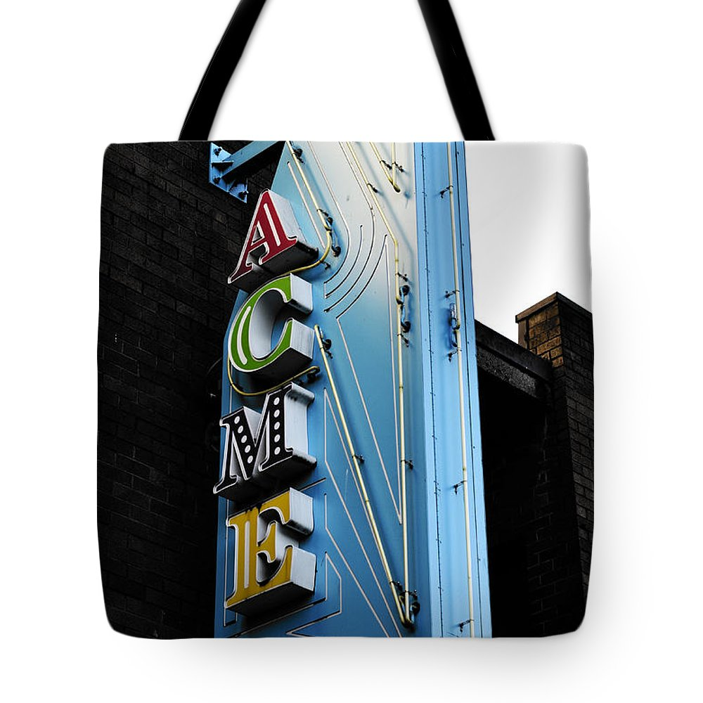 Vancouver Tote Bag featuring the photograph Acme by The Artist Project
