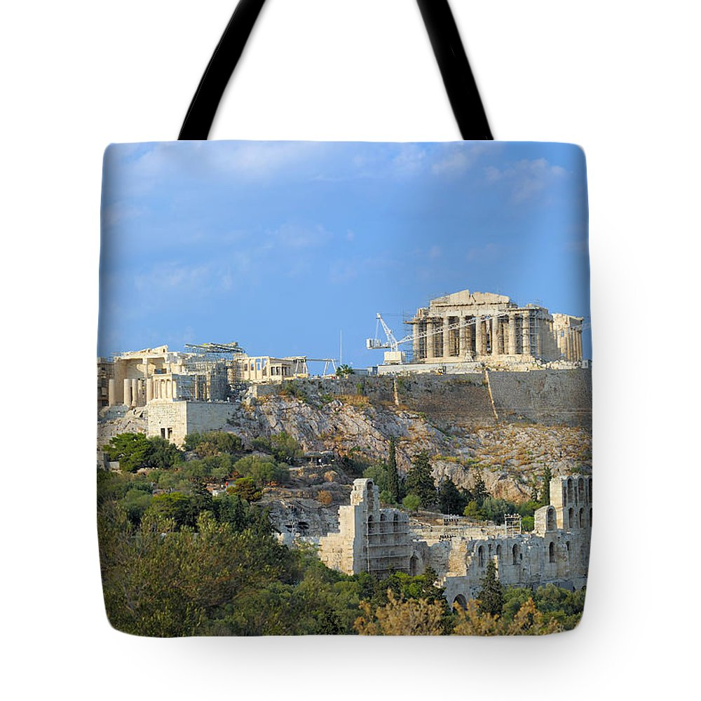 Acropolis Tote Bag featuring the photograph Acropolis Of Athens by Grigorios Moraitis