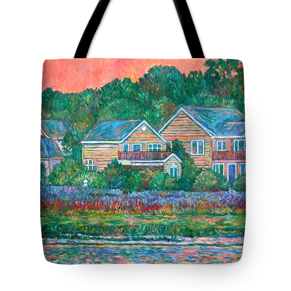 Landscape Tote Bag featuring the painting Across The Marsh At Pawleys Island    by Kendall Kessler