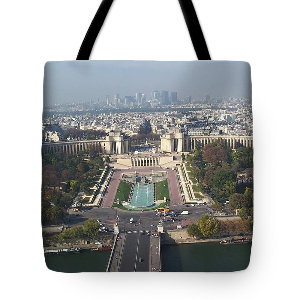 Seine River Tote Bag featuring the photograph Across The Seine by Barbara McDevitt