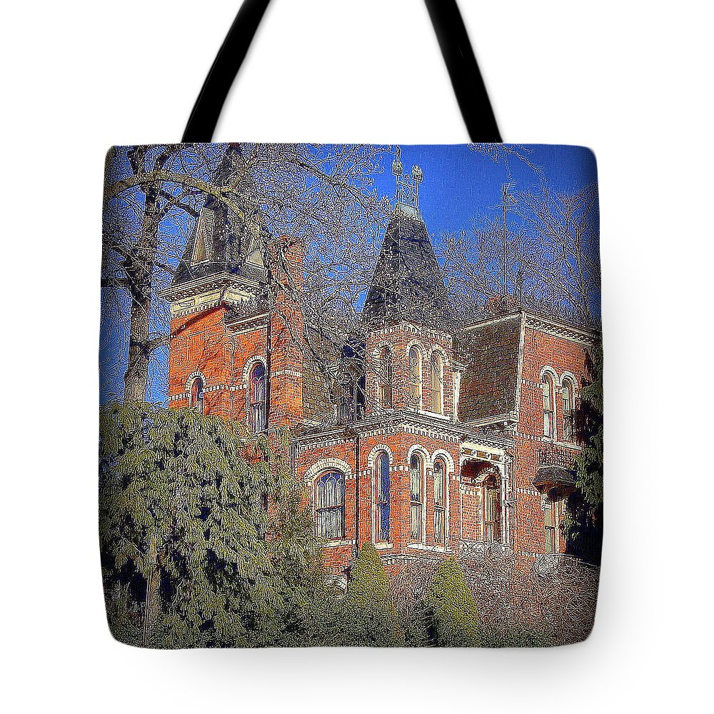 Addams Family Tote Bag featuring the photograph Addams Family House by Priscilla Richardson