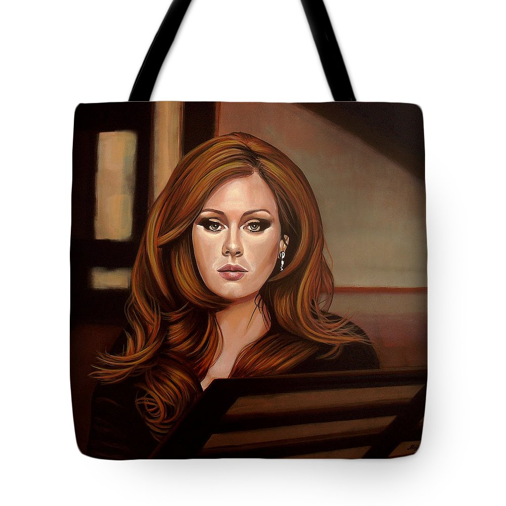 Adele Tote Bag featuring the painting Adele by Paul Meijering