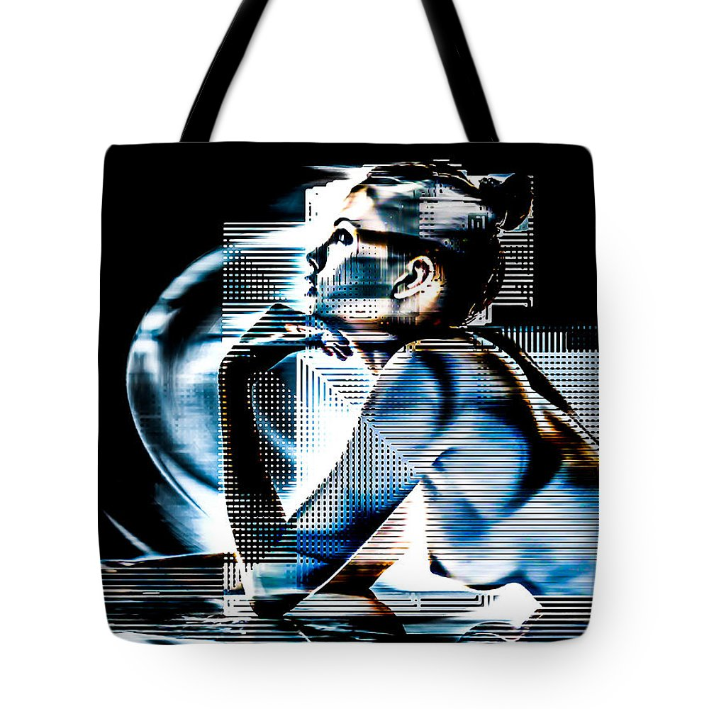 Digital Tote Bag featuring the digital art Adeline Topless 14 by maGue