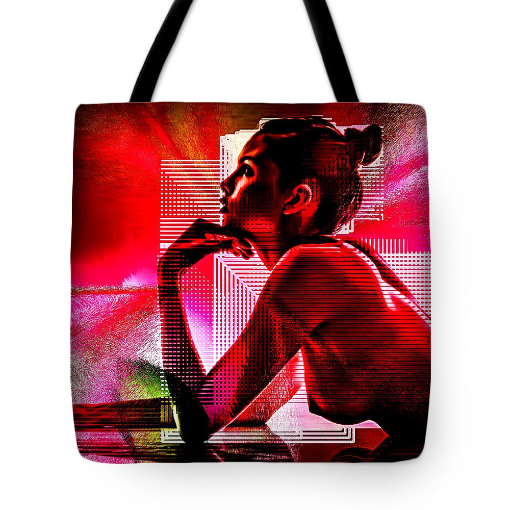 Digital Tote Bag featuring the digital art Adeline Topless 18 by maGue