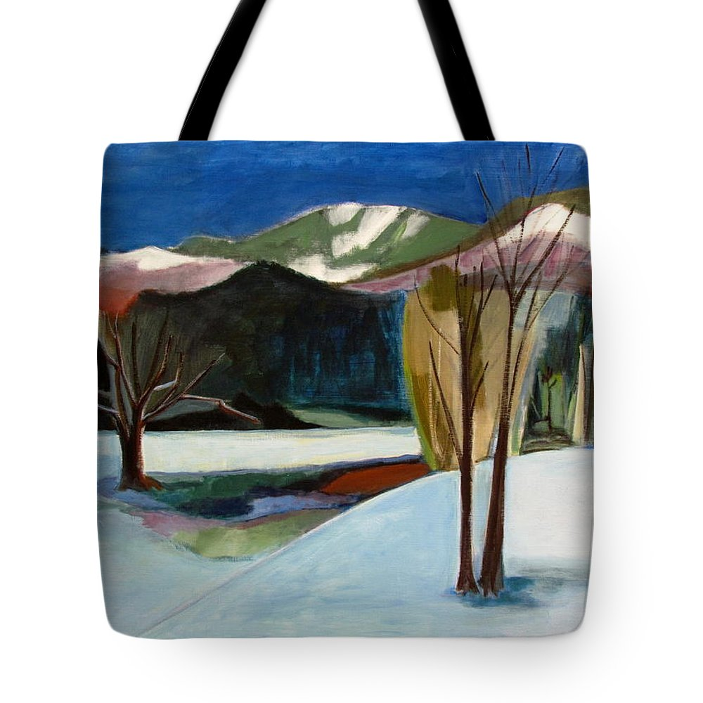 Adirondack Mountains Tote Bag featuring the painting Adirondacks by Betty Pieper