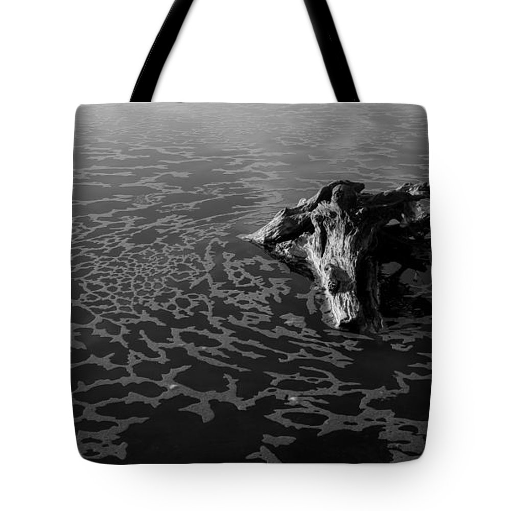 Driftwood Tote Bag featuring the photograph Adrift by Alex Lapidus