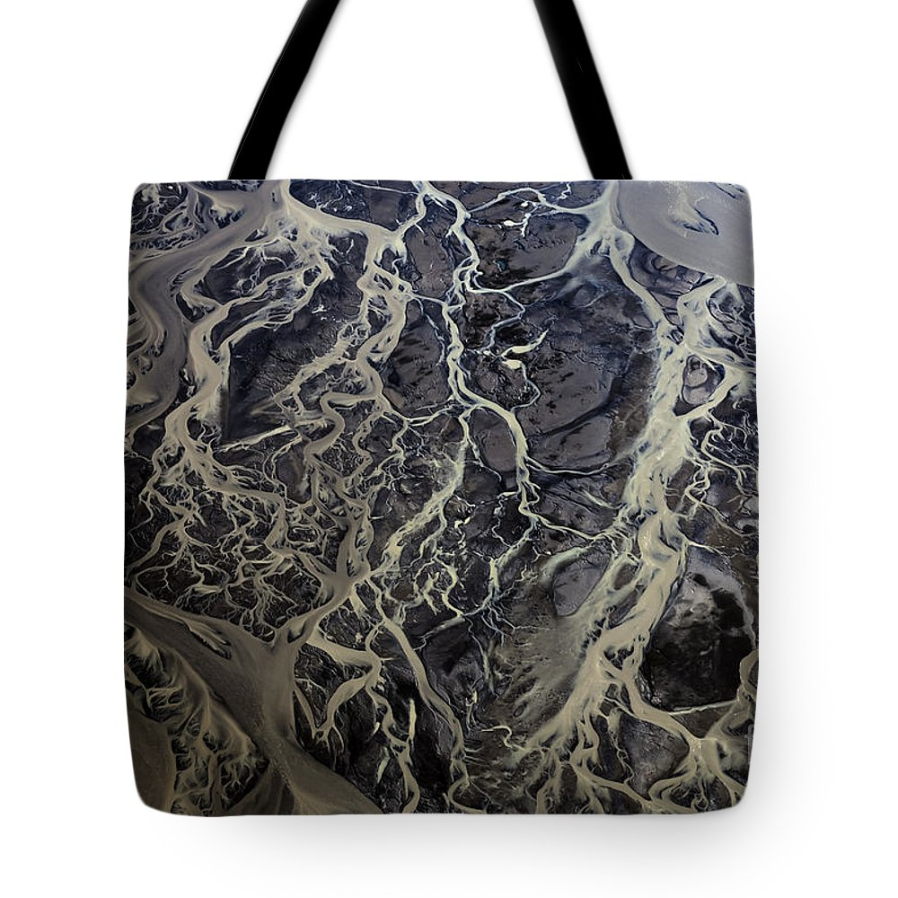 Abstract Photography Tote Bag featuring the photograph Aerial Photography by Gunnar Orn Arnason