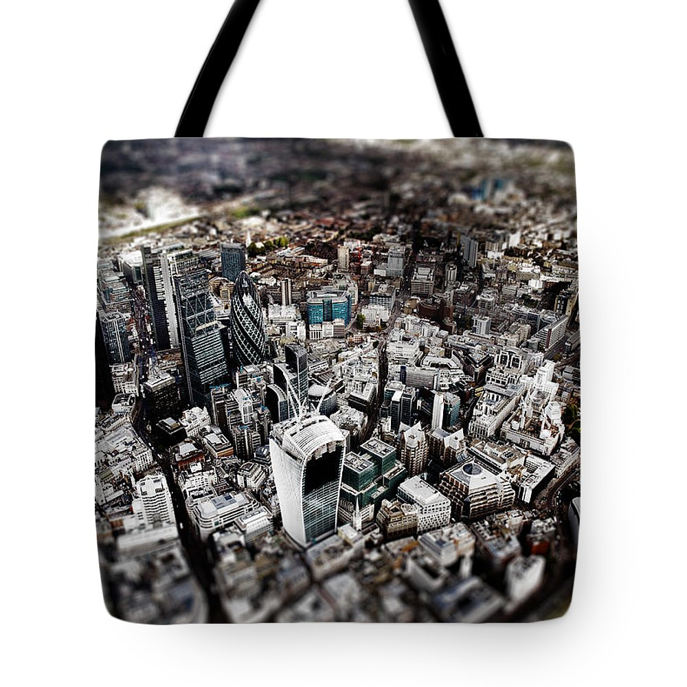 London Tote Bag featuring the photograph Aerial View Of London 3 by Mark Rogan
